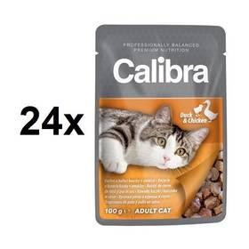 Calibra Cat Adult kachní a kuřecí v omáčce 24 x 100 g