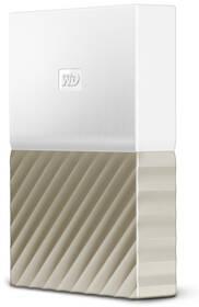 Western Digital My Passport Ultra 4TB (WDBFKT0040BGD-WESN) biely/zlatý