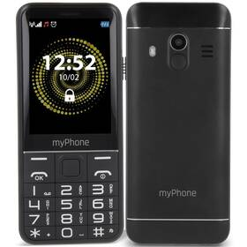 myPhone Halo Q Senior (TELMYSHALOQBK) čierny