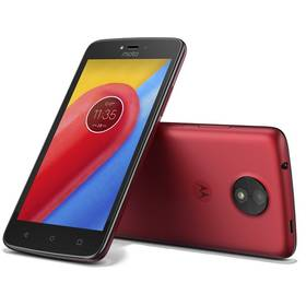 Lenovo Motorola Moto C Dual SIM (PA6L0028CZ) červený SIM s kreditem T-Mobile 200Kč Twist Online Internet (zdarma)