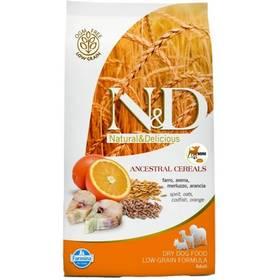 N&D Low Grain DOG Adult Maxi Codfish & Orange 12 kg Plastový kontejner na granule N&D Farmina + Doprava zdarma