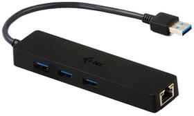 i-tec USB 3.0 / 3x USB 3.0 + LAN (U3GL3SLIM) černý