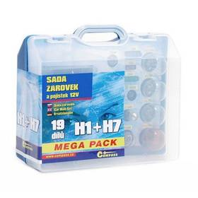 Autožárovky Compass 12 V servisní box MEGA H1 + H7 + pojistky