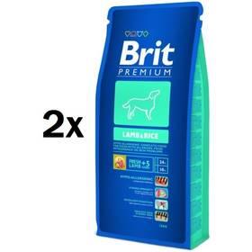 Granule Brit Premium Dog Lamb & Rice 2 x 15 kg + Doprava zdarma
