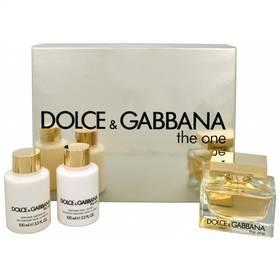 Dolce & Gabbana The One EdP 75 ml + 100 ml tělové mléko + sprchový gel 100 ml dárková sada