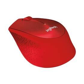 Logitech Wireless Mouse M330 Silent Plus (910-004911) červená