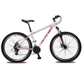 """Olpran EXTREME DISK 27,5"""" bílé/červené Sada cyklodoplňků (zvonek+blikačka+světlo) pro kolo dospělé (zdarma) + Doprava zdarma"""