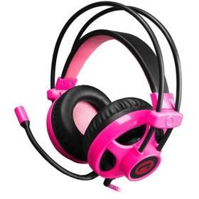 Headset C-Tech Helios (GHS-07G) (GHS-07P) černý/růžový (vrácené zboží 8800113986)