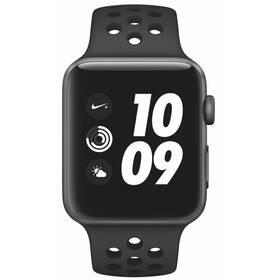 Apple Watch Nike+ Series 3 GPS 42mm pouzdro z vesmírně šedého hliníku - antracitový/černý sportovní řemínek Nike (MTF42CN/A)