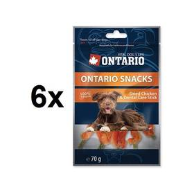 Ontario Snack Chicken dental stick 6 x 70g