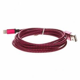 CellFish USB/ Lightning, 2m (IPPLUSBKABELPINK2M) růžový