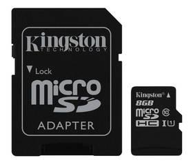Kingston MicroSDHC 8GB UHS-I U1 (45R/10W) + adapter (SDC10G2/8GB)