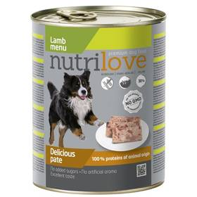 Nutrilove Dog paté Lamb 800g