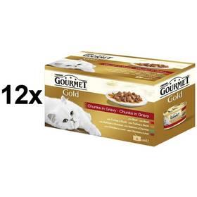 Konzerva Gourmet Gold kousky ve šťávě Multipack 12 x (4 x 85g)