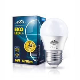 ETA EKO LEDka mini globe, 6W, E27, teplá bílá (G45-PR-323-16A) bílá