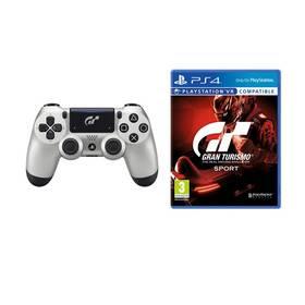 Sony Dual Shock 4 pro PS4 v2 - Gran Turismo Sport edice + hra Gran Turismo Sport (PS719932468) + Doprava zdarma