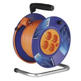 Kabel prodlužovací na bubnu EMOS 4x zásuvka, 30m (1908143001) oranžový
