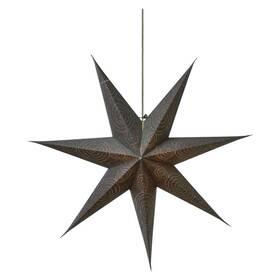 EMOS vánoční hvězda papírová stříbrná, 75cm (1534224800) (poškozený obal 8800827726)