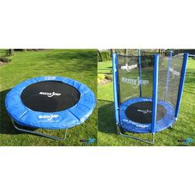 Masterjump 244 cm + Ochranná síť Masterjump na trampolíny 244 cm modrá + Doprava zdarma