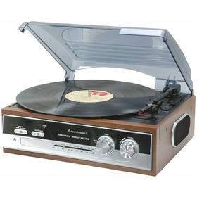 Gramofon Soundmaster PL186H dřevo