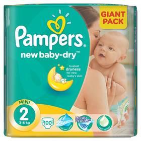 Pampers New Baby-dry vel.2 Mini, 100ks + Doprava zdarma