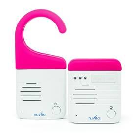 Detská elektronická pestúnka Nuvita digital-audio Pink biela/ružová