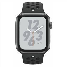 Apple Watch Nike+ Series 4 GPS 44mm pouzdro z vesmírně šedého hliníku - antracitový/černý sportovní řemínek Nike (MU6L2HC/A)