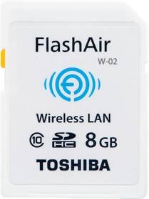 Paměťová karta Toshiba SDHC 8GB Flash Air Class 10 Wifi (0190W111) bílá