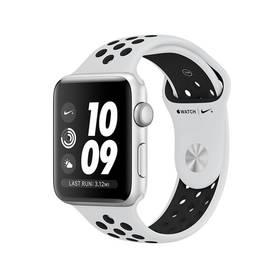 Apple Watch Series 3 Nike+ 38mm pouzdro ze stříbrného hliníku - bílý Nike řemínek (MQKX2CN/A)