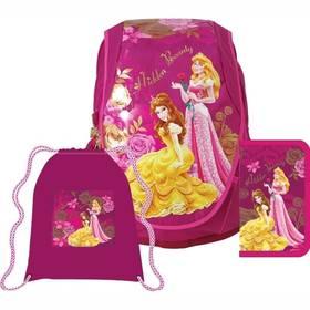 Sun Ce Disney Princezny - batoh, penál, sáček růžový Sada gelových per Vector neon 6ks (zdarma) + Doprava zdarma