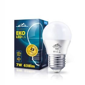 ETA EKO LEDka mini globe, 7W, E27, teplá bílá (G45-PR-470-16A) bílá