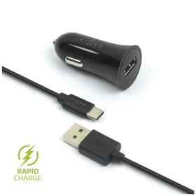 FIXED 1x USB, 2,4A + USB-C kabel (FIXCC-UC-BK) čierny