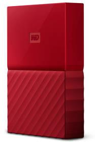 Western Digital My Passport 4TB (WDBYFT0040BRD-WESN) červený