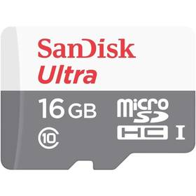 Sandisk Micro SDHC Ultra Android 16GB UHS-I U1 (48MB/s) (SDSQUNB-016G-GN3MN)