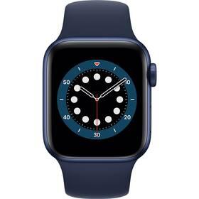 Apple Watch Series 6 GPS 44mm pouzdro z modrého hliníku - námořnicky tmavomodrý sportovní náramek (M00J3VR/A)