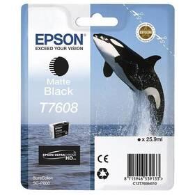 Epson T7608, 25,9 ml, matná černá (C13T76084010)