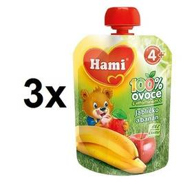 Hami ovocná kapsička Jablíčko Banán 90g x 3ks