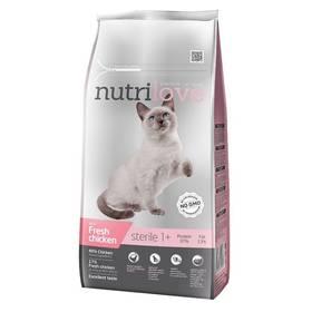 Nutrilove Cat dry Sterile fresh chicken 7kg Konzerva Nutrilove Cat paté Veal 400g (zdarma)Konzerva Nutrilove Cat paté Duck 400g (zdarma)