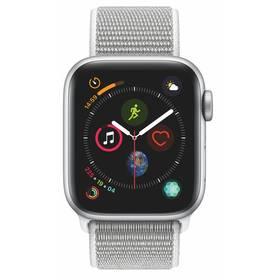 Apple Watch Series 4 GPS 40mm pouzdro ze stříbrného hliníku - mušlově bílý provlékací sportovní řemínek CZ verze (MU652HC/A)