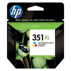 HP No. 351XL, 14 ml - originální (CB338EE) červená/modrá/žlutá