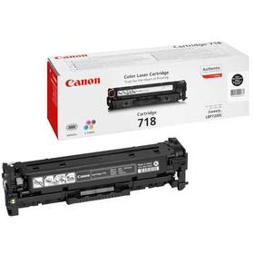 Canon CRG-718Bk, 3,4K stran - originální (2662B002) černý