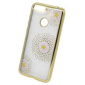Beeyo Flower Dots pro Huawei Y6 Prime (2018) (BEAHUY6P2018FDGO) zlatý
