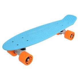 """Penny board Sulov 22"""" VIA DOLCE sv.modrý/mat.oranžový"""