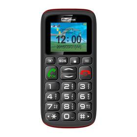 MaxCom Comfort MM428 Dual SIM (MM428BK/RDS) černý/červený