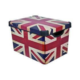 Box úložný Curver Decoboxes Stockholm British Flag vel. L