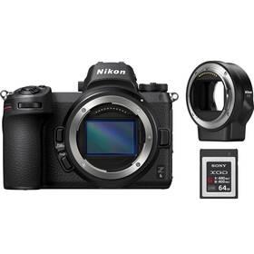 Nikon Z6 + adaptér bajonetu FTZ + 64 GB XQD karta (VOA020K008) černý