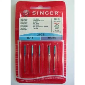 Príslušenstvo pre šijacie stroje Singer - jehly BLISTER 826 - 2026/90,100 JEANS 5 ks