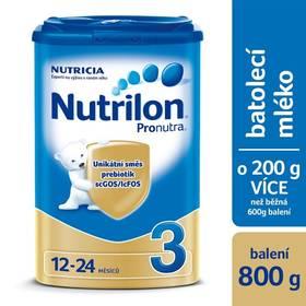 Nutrilon 3 Pronutra, 800g - v nabídce také výhodné 6ks balení za cenu 299,-/1ks Mléčná kaše Nutrilon Pronutra krupicová s ovocem, 225g (zdarma)