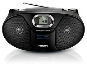Rádioprijímač s CD Philips AZ385 čierny