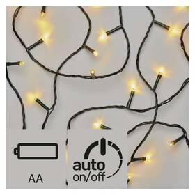 EMOS 120 LED,  řetěz, 3x AA, venkovní, 8,4m, teplá bílá, časovač (1534205600)